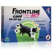 Merial Italia Frontline Tri act soluzione antiparassitario spot on per cani da 10 a 20kg (3 pipette)