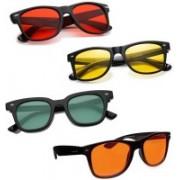 Elligator Wayfarer Sunglasses(Red, Green, Yellow, Orange)