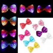 12 PCS 2017 New Style Creative Luminous Bow Tie Fashion Children LED Glow Decoration Toys Random Color Delivery