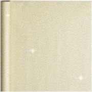 Bellatio Decorations 2x stuks kerst cadeaupapier gouden glitters 70 x 150 cm