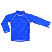 Tricou de baie Fish blue marime 98-104 protectie UV Swimpy
