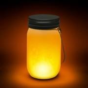 Lángokat imitáló elemes LED lámpa - Befőttes üveg