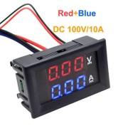 Волтметър/амперметър за прав ток 0-100V / 10A