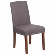 Flash Furniture Fabric Parson's Chair -Gray, 19.5Inch W x 26.75Inch D x 38.5Inch H, Model QYA139349GY