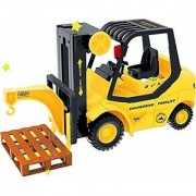 Morgan Sellers 116 Big Size Smart City Fork lift Toy Truck with Light Sound Effects Friction Powered (Forklift Truck)