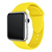 Apple Dubbele klinknagels siliconen horloge Band voor Apple Watch serie 3 & 2 & 1 38mm (geel)