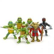 6 Pcs Toy Set of TMNT Teenage Mutant Ninja Turtle Raphael Leonardo Donatello Michelangelo Action Figure Toys