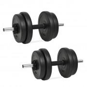 vidaXL Conjunto de halteres 14 pcs 20 kg