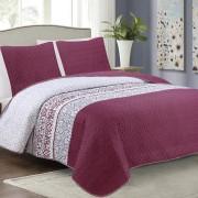 3 részes ágytakaró szett 220x240 cm elegáns gyöngyház fehér színben