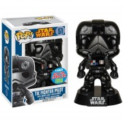 Funko Pop Tie Figher Pilot Chrome Nycc Comic Con Sticker Exclusivo Star Wars