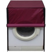 Glassiano waterproof and dustproof Maroon washing machine cover for Siemens WM12P260IN Fully Automatic Washing Machine
