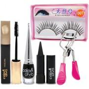 Adbeni Face Makeup Palate With Eyelash Curler Combo Set of 5 GC561