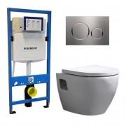 Douche Concurrent Geberit UP 320 Toiletset - Inbouw WC Hangtoilet Wandcloset - Daley Sigma-20 Sigma-20 RVS Geborsteld