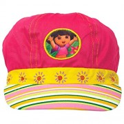 "Amscan Colorful Dora The Explorer Birthday Party Deluxe Fabric Hat Wearable Supply Favor (1 Piece), 5 1/2"" x 10"", Pink/Yellow"