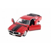 Welly 1970 Ford Mustang Boss 302, Red w/ Black - 22088WR 1/24 Scale Diecast Model Toy Car