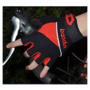 Guantes De Ciclismo Gel Mtb Verano Bicicleta Sin Dedos Antideslizante - Rojo
