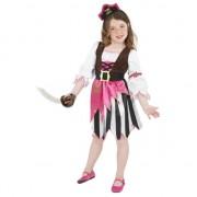 Smiffys Roze piraten pakje voor meisjes 130-143 (7-9 jaar) Multi
