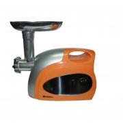 Picadora De Carne Electrica Suzika SZ- CM034 - Naranja Con Plateada