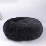 Dog Round Cat Winter Warm Sleeping Bag Plush Soft Pet Bed Calming Bed 60x26cm - Dark Grey