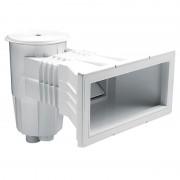 Skimmer con boca ampliación piscina hormigón AstralPool - 00251 - tapa circular blanca