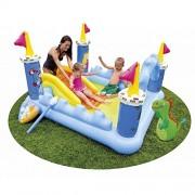 ADITYA INFO™ Intex Fantasy Castle Water Slide Play Centre 57138 - Fun for Kids