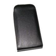 Кожен калъф Flip за Samsung E500 Galaxy E5 Черен