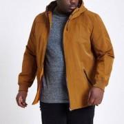 River Island Mens Big and Tall mustard Yellow hooded jacket