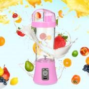Electric Portable Juicer Cup Fruit Vegetable Juice Mixer-Rosa