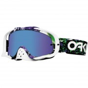 Oakley Crossbril Crowbar MX Factory Splatter Green Purple/Violet Iridium