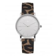 IKKI Horloges Watch Tanner Leopard Zilverkleurig