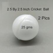 PVC Cricket Ball 25 gms 2 Pics (Size-2.5 Inch by 2.5 Inch)