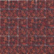 Maxwhite ASCH008 Mozaika skleněná hnědá oranžová s dekorem 29,7x29,7cm