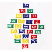 Colorful Uppercase Lowercase Educational Alphabet Cushions