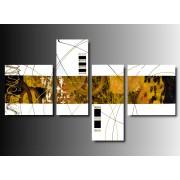 4 Quadri Moderni Lineari Vari Colori