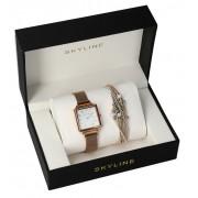 SKYLINE dámská dárková sada hodinky s náramkem MP012