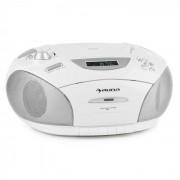 RCD220 Boombox CD USB Mangianastri Radio PLL-OUC MP3 2x2W bianco