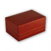 Műanyag borítású jegygyűrű doboz