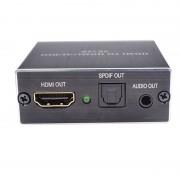 HDMI audió leválasztó digitális analóg adapter TOSLINK 3,5 mm-es sztereó kivetítő átalakító HDMI Audio extractor