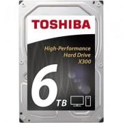 Хард диск TOSHIBA X300, 6TB, 7200rpm, 128MB, SATA 3, HDWE160UZSVA - HDWE160UZSVA