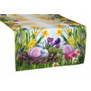 Velikonoční běhoun na stůl Kraslice Rozměr běhounu 40 x 140cm