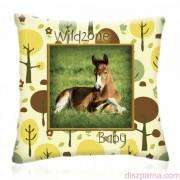 WILD ZONE Baby LOVACSKA állatos díszpárna 28x28 cm