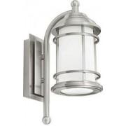Kültéri fali lámpa E27 1x22W mag:35cm nemesacél/fehér Portici 90208 Eglo