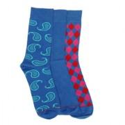 Soxytoes Multi-Coloured Cotton Calf Length Pack of 3 Pairs for Men Formal Socks (SOSN0132)
