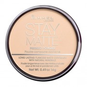 Rimmel London Stay Matte Long Lasting Pressed Powder 14G 006 Warm Beige Per Donna (Cosmetic)