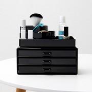 Compactor cosmeticabox - 3 lades - zwart
