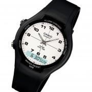 Reloj Casio Aw-90h7b -Negro Y Blanco Con Numeros