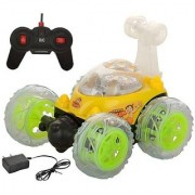 Rechargeable 360 Degree Twisting Stunt Car with Music Lights for Kids with Remote Control ( Colors as Per Stock)