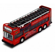 Chicago Sightseeing Double Decker Bus Open Top, Red Showcasts 2168 Cg 6 Inch Scale Diecast Model Replica