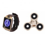 Zemini DZ09 Smart Watch and Fidget Spinner for LG OPTIMUS L3 DUAL(DZ09 Smart Watch With 4G Sim Card Memory Card| Fidget Spinner)