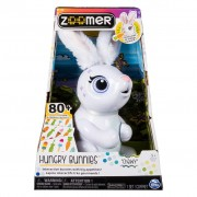 Spin Master Zoomer Robotic Rabbit Hungry Bunnies Chewy White 6046698